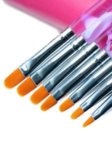 7-Pieza lila estilo limas de uñas acrílico
