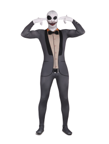 Skeleton Unisex Lycra Spandex Cool Multicolor Zentai Suits Halloween cosplay costume