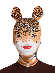 Image of Multi colore Leopard Print Unisex Lycra Spandex cappe  Carnevale