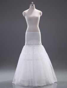Quality White Polyester ALine Slip Wedding Petticoat for Brides
