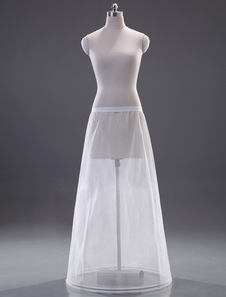 Fantastic White Polyester ALine Slip Wedding Petticoat for Brides