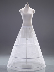 White OneTier Quality ALine Slip Wedding Petticoat for Brides