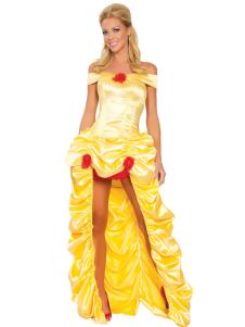 Sleeping Beauty Halloween Costume Yellow Fairytale Princess Costume Cosplay