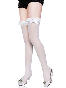 halloween-vivid-white-bow-nylon-festival-stockings