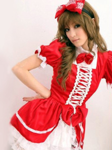 halloween-fashion-red-cotton-blend-women-s-sexy-maid-costume