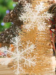Los copos de nieve Navidad figuras decorativas
