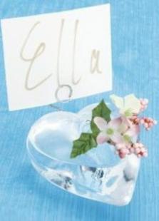 Heart Shaped Vase Place Card Holder For Wedding