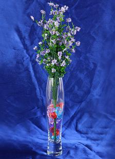 Transparente cristal elíptica boda florero centro