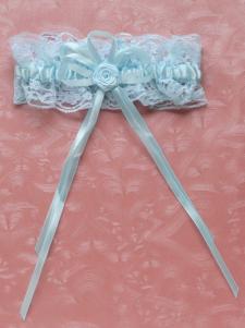Image of Pizzo blu matrimonio favoloso giarrettiera per la sposa