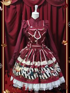angel-printing-pleated-lolita-skirts