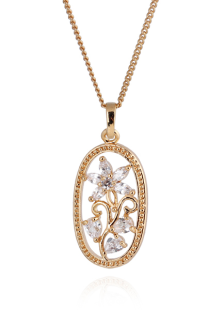 Charming Gold Flower Rhinestone Fashion Necklace