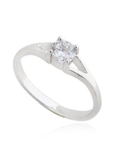 Image of Vetro rotondo rotondo brillante anello glamour