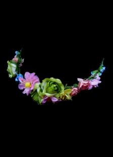 Image of Multi colore carta nuove nozze testa fiore