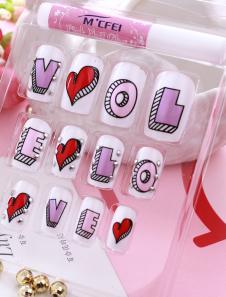 Image of Multi colore lettere resina stampa chiodo adesivi