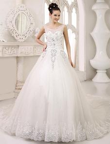 Image of Abbigliamento da sposa avario elegante in tulle