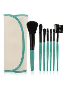 Image of Qualità tela verde leggera microfibra 7 pezzi facilmente applicata Pennello trucco set