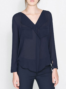 v-neck-chiffon-blouse