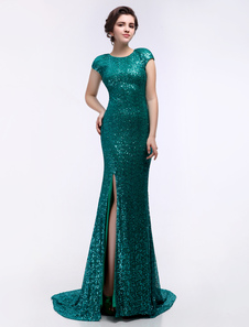 dark-green-sequined-split-mermaid-prom-dress
