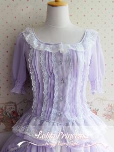 Half Sleeves Tiered Fantastic Lolita Shirt