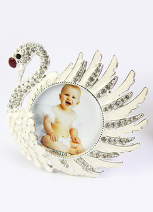 Image of Swan Pattern Non personalizzata vetro telaio e favori Album