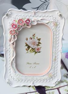 Image of Dolce resina bianca cornice Non personalizzate e bomboniere Albu