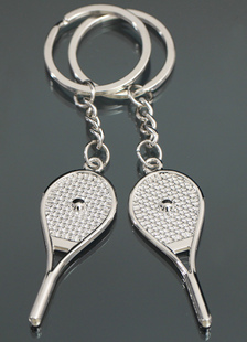 4-pair-racket-pattern-metal-wedding-keychain-favors