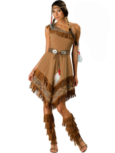 Halloween Amazing Brown Native American Womens Sexy Costume