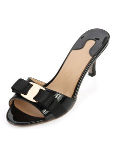 black-kitten-heel-genuine-patent-leather-casual-stylish-slides