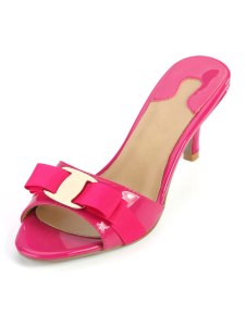 fuchsia-kitten-heel-genuine-patent-leather-daily-trendy-slides