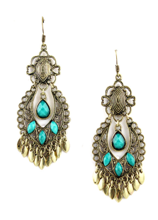 Image of Resina Drops Design eleganti orecchini