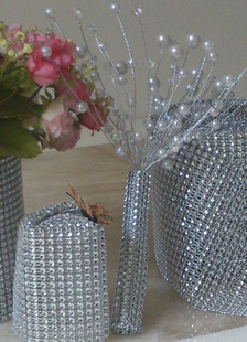 luxury-plastic-net-rhinestone-wedding-decorations