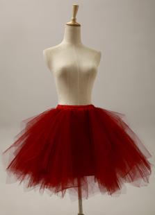 burgundy-three-tier-fantastic-short-flare-slip-wedding-petticoat-for-brides