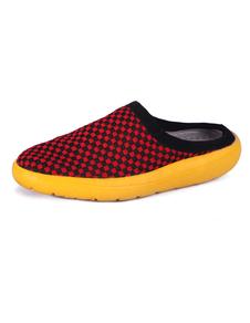 red-round-toe-elastic-fabric-mens-sandals