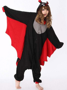 Black Red Bat Kigurumi Anime Costume