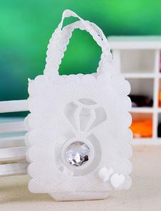 Image of Delicati strass carta perla Bomboniere borse Set di 12