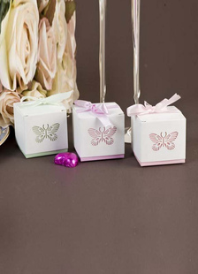 Image of Dolce farfalla carta perla matrimonio favore Box Set di 12