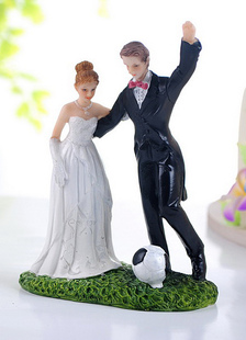 Traditional Figurine Athletic Wedding Cake Toppers