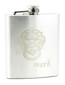 fashion-stainless-steel-lion-personalized-wedding-flask-7-ounce