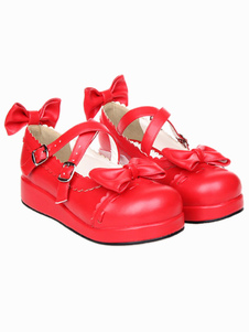 dandy-red-round-toe-pu-leather-street-wear-lolita-shoes