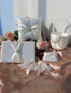 Milanoo UK  Ecru White Wedding Collection Set with Ribbon