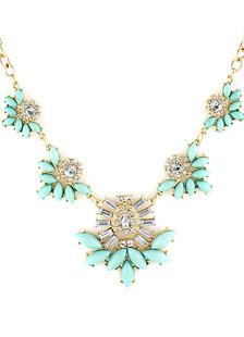 Bohemian Unique Green Flower Fashion Necklace