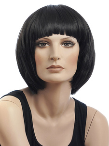 black-heat-resistant-fiber-straight-fashion-short-wig-for-women