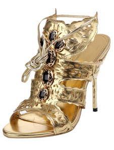 gold-stiletto-heel-leisure-stylish-slides