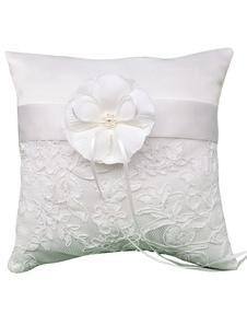 Almohada para anillos con flor