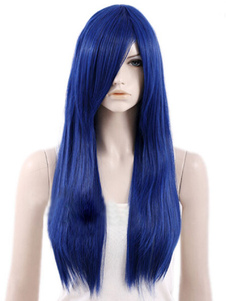 Blue Side Parting Heatresistant Fiber Sexy Chic Long Halloween wig