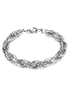 Image of Bracciale aragosta argento moderno artiglio fibbia in acciaio inox uomo