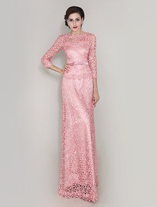 pink-sheath-lace-dress-for-mother-of-bride