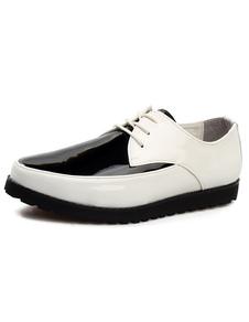 Image of Qualità punte Toe Lace Up brevetto PU Abito scarpe da uomo