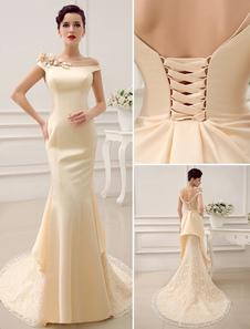 bateau-neck-shoulder-flower-design-mermaid-court-train-wedding-dress-for-bride-with-low-back