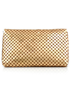 Modern Quilted Metallic Sequined Clutch Bag For Woman